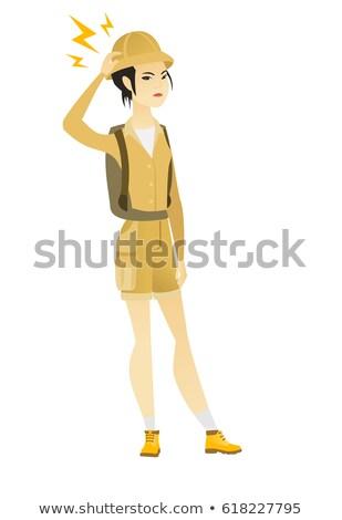 азиатских путешественник Молния голову молодые Сток-фото © RAStudio