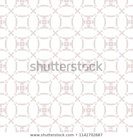 Neutral rounded weave squares seamless pattern. Stock photo © almagami
