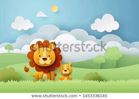 lion in the forest Stock photo © adrenalina