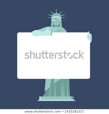 Szobor hörcsög tart szalag amerikai karakter Stock fotó © popaukropa