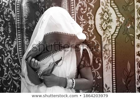 Csábító lány mögött fátyol vonzó pózol Stock fotó © LightFieldStudios