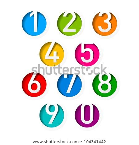molecular · fuente · numérico · dígitos · colección · seis - foto stock © oakozhan