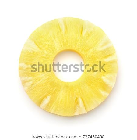 新鮮な パイナップル スライス 背景 デザート ストックフォト © M-studio