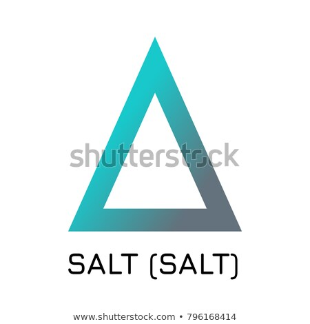 Salt Blockchain Cryptocurrency Coin. Vector Logo of SALT. Stock photo © tashatuvango