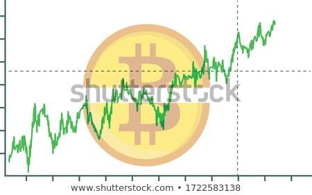 bitcoin · prijs · dynamica · valuta · virtueel - stockfoto © romvo