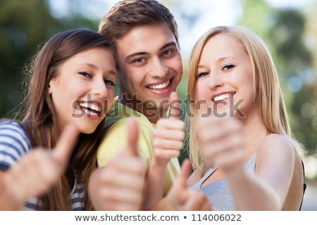 Energetic group of young people Stock photo © IS2