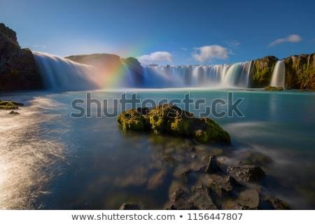 cascade · belle · paysage · Islande · Rainbow · attraction · touristique - photo stock © kotenko