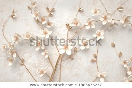 цветок украшение ювелирные дизайна красивой девушки Сток-фото © bedlovskaya