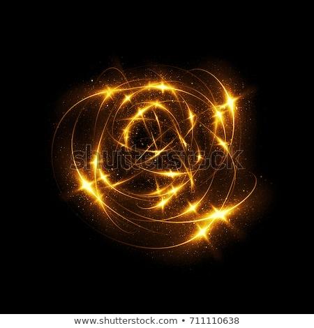 Luz dourado linhas superfície modelo abstrato Foto stock © romvo