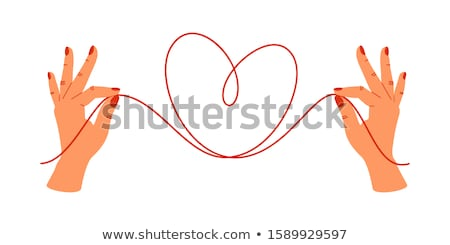 in a female hand tangle of rope  Stock photo © OleksandrO