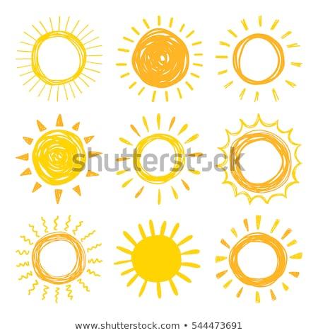 coleção · verão · laranja · nascer · do · sol · desenho · animado · luz · do · sol - foto stock © kyryloff