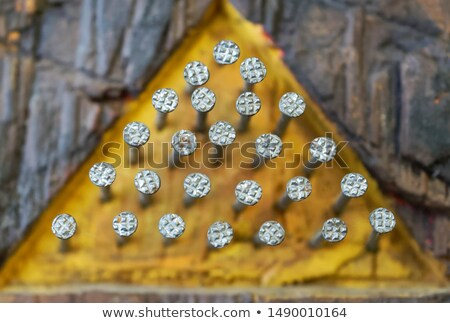 yellow pyramids stock photo © simply