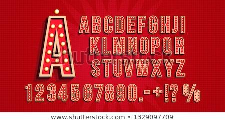 Sale light sign with lamps. discount letter Retro light bulb. Vi Stock photo © popaukropa