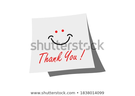 happy thanksgiving handwritten on sticky note stock photo © ivelin