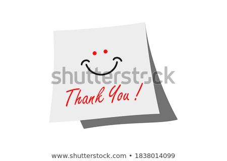 Feliz ação de graças nota pegajosa amarelo cortiça Foto stock © ivelin