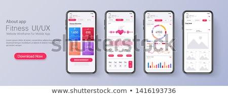 business analysis it app interface template stock photo © rastudio