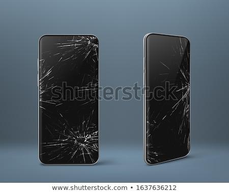 broken mobile phone object vector illustration stock photo © robuart