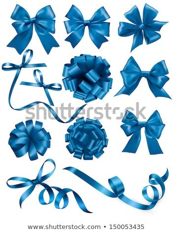 Blue Web Ribbon Big Set Cardboard Background Stock photo © adamson
