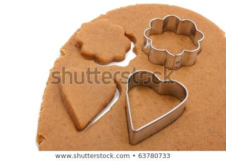 Nyers mézeskalács keksz étel desszert szakács Stock fotó © M-studio