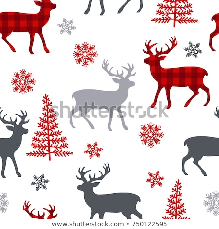 Seamless pattern with deer horns Stock photo © Artspace