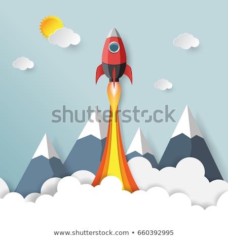 rakéta · illusztráció · égbolt · technológia · űr · repülőgép - stock fotó © robuart