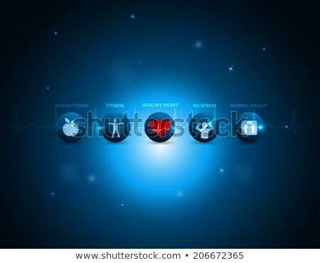 coração · ícone · vetor · amor · abstrato · fundo - foto stock © imaagio