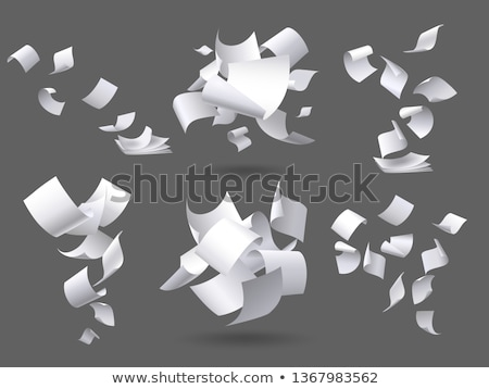 office paper and documents in letters set vector stock photo © robuart