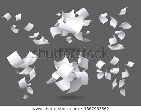 オフィス 紙 文書 文字 セット ベクトル ストックフォト © robuart