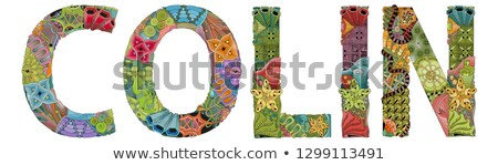 male name colin vector decorative zentangle object stock photo © natalia_1947