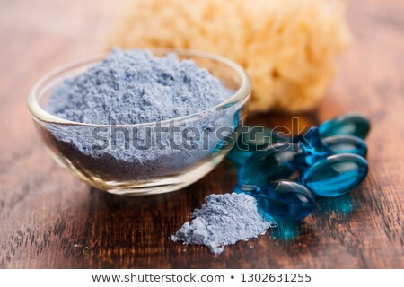 Mavi kil maske serum kapsül yüz Stok fotoğraf © joannawnuk