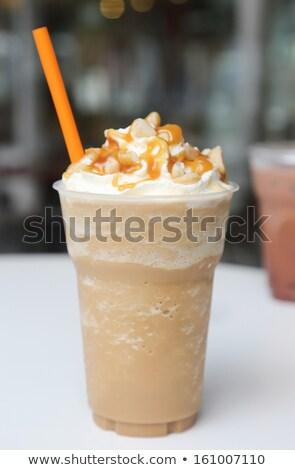 Jeges nyár bár ital tej kávézó Stock fotó © eddows_arunothai