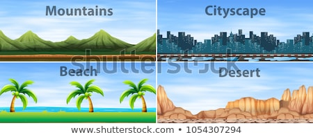 Different landforms Stock photo © colematt