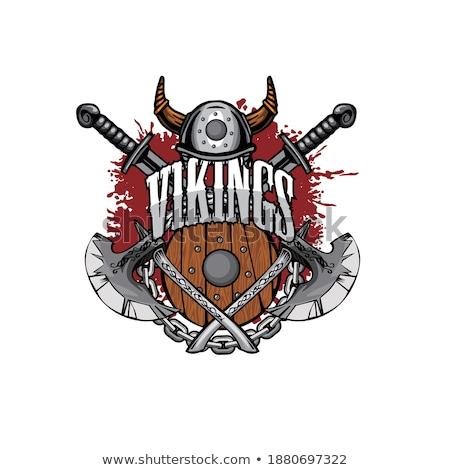 Viking harcos kabala felirat grafikus vikingek Stock fotó © Krisdog