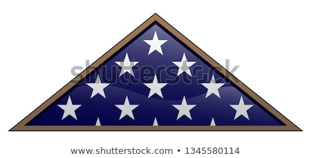 Military Veteran Folded American Flag Vector Illustration Stock photo © jeff_hobrath