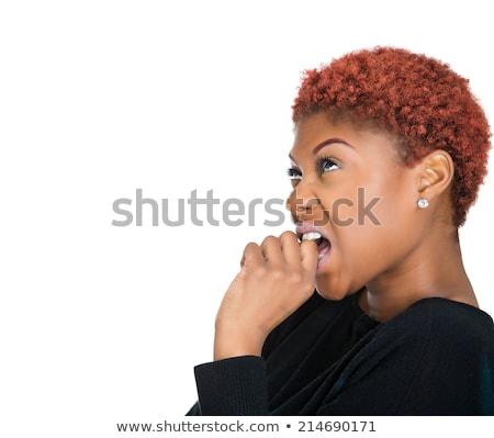 African woman funny reaction Stock photo © studiostoks