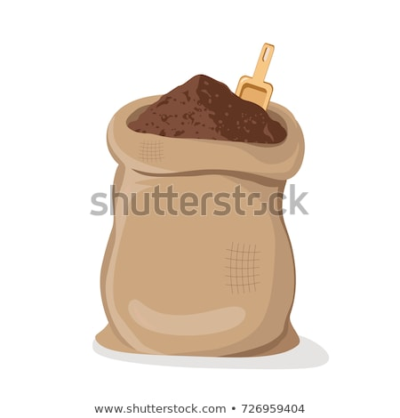 Terreno café tigela grande colher textura Foto stock © galitskaya