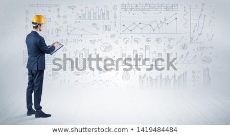 construção · ferramentas · casa · diagrama · martelo · água - foto stock © ra2studio
