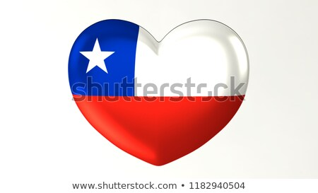 bayrak · Şili · kalp · şekli · örnek · dizayn · arka · plan - stok fotoğraf © colematt