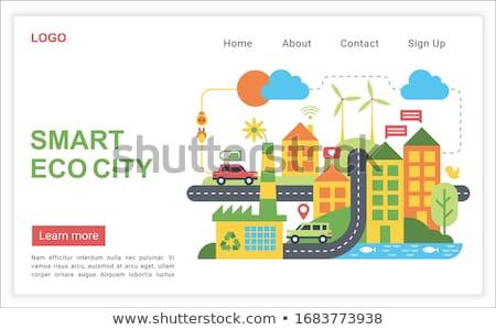 Eco battery concept banner header. Stock photo © RAStudio