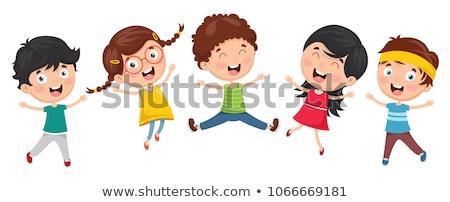 Vector cute cartoon kinderen kind clip art Stockfoto © VetraKori