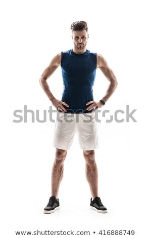 giovani · forte · sport · uomo · piedi - foto d'archivio © deandrobot