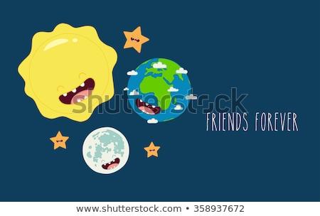 Föld napja bolygó nap napsütés poszter ünneplés Stock fotó © robuart