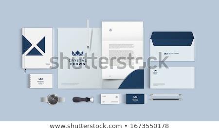 Szett mozdulatlan tárgy illusztráció üzlet papír Stock fotó © bluering