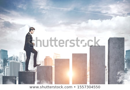 Scaling Business People Achieving Success at Work Stock photo © robuart