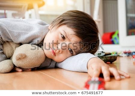 unatkozik · gyerekek · gyerekek · gyermek · haj · kék - stock fotó © anna_om