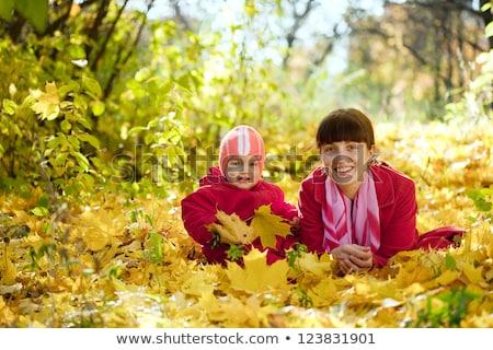 лет жизни портрет матери сын сидят Сток-фото © galitskaya