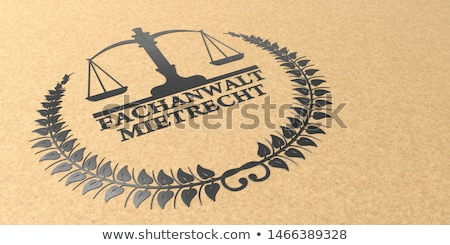 адвокат прав текста 3d иллюстрации домой правовой Сток-фото © limbi007