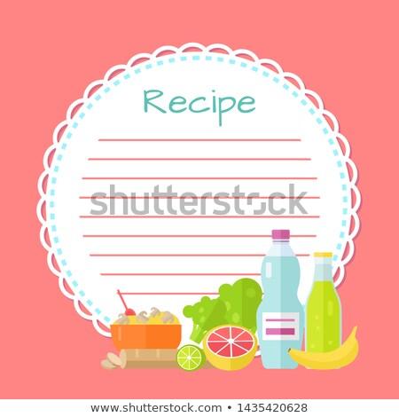 Rose vide livre de cuisine propre recette liste Photo stock © robuart