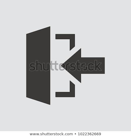 flecha · negro · color · vector · icono · símbolo - foto stock © angelp