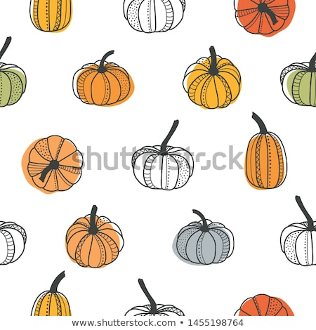 cartoon cute hand drawn autumn seamless pattern stock photo © balabolka